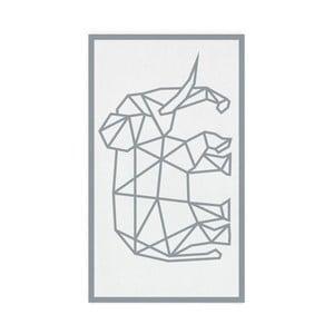 Sivá osuška Hawke&Thorn Elephan, 90x160cm