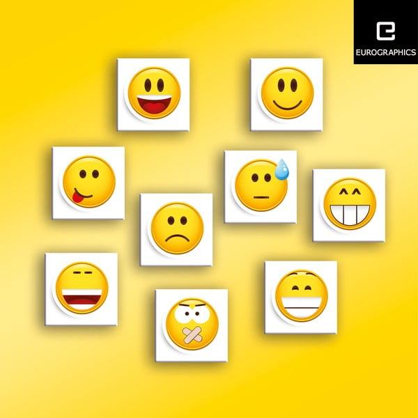 Sada 9 magnetiek Smile