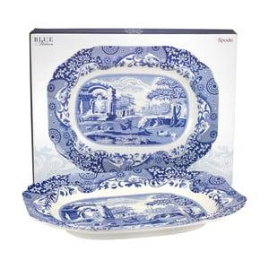 Bielo-modrý porcelánový servírovací podnos Spode Blue Italian Villa