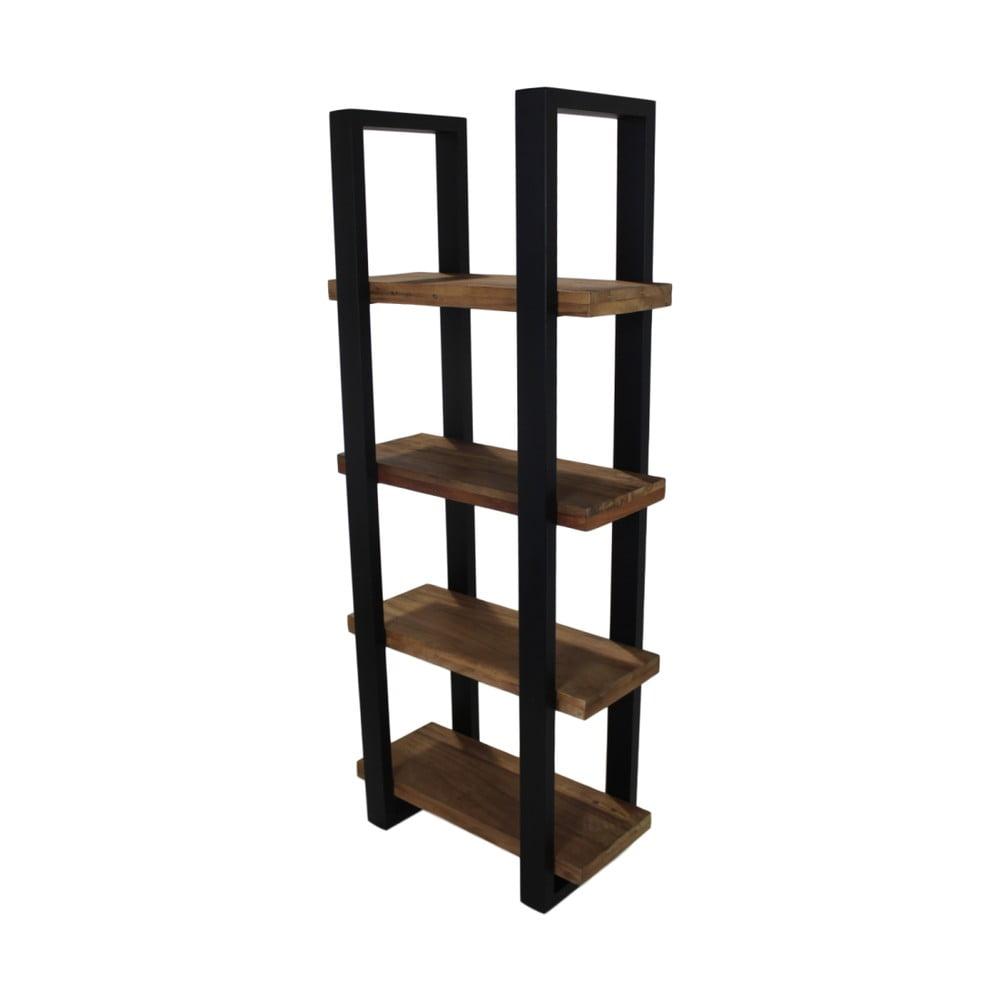 Knižnica z recyklovaného dreva a kovu HSM collection Ironie