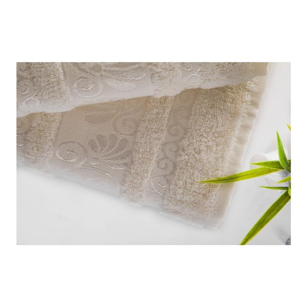 Sada uteráka a osušky Carmen Ecru, 50x90 a 70x140 cm