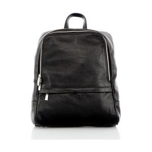 Čierny kožený batoh Glorious Black Betty