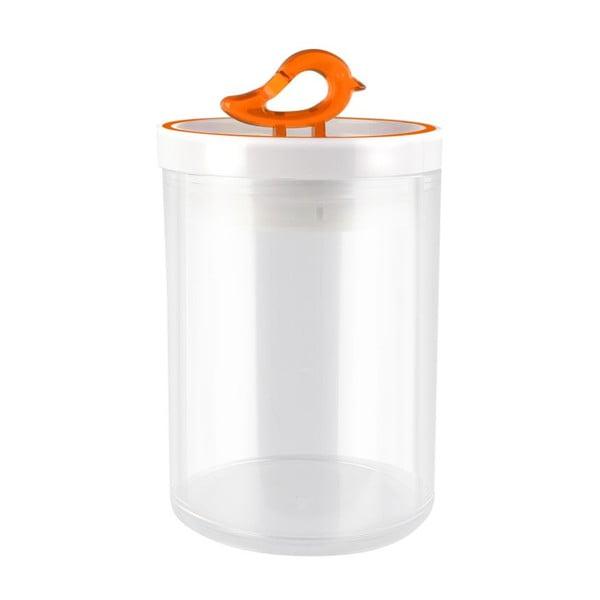 Oranžová dóza Vialli Design Livio, 0,8 l