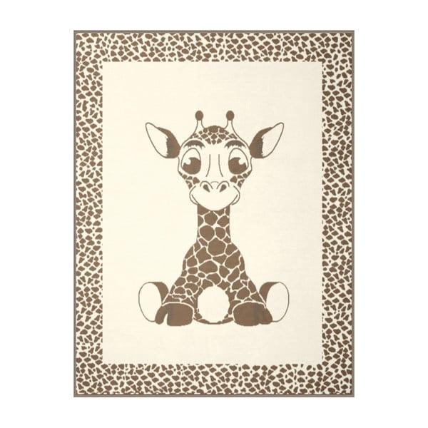 Deka Giraffe Beige, 75x100 cm