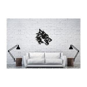 Čierna nástenná dekorácia Oyo Concept Wolf, 50×50 cm