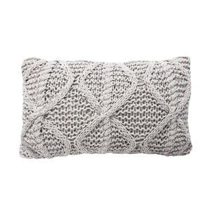 Krémový pletený vankúš OVERSEAS Diamond, 30x50cm