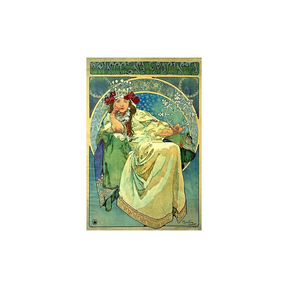 Reprodukcia obrazu Alfons Mucha - Princess Hyazin, 60 x 40 cm