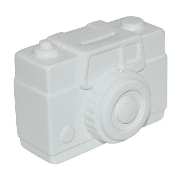 Krabička na peniaze Camera, biela