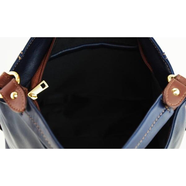 Kožená kabelka Alessia Blu/Marrone