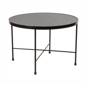 Čierny kovový konferenčný stolík Nørdifra Marble, ⌀ 60 cm