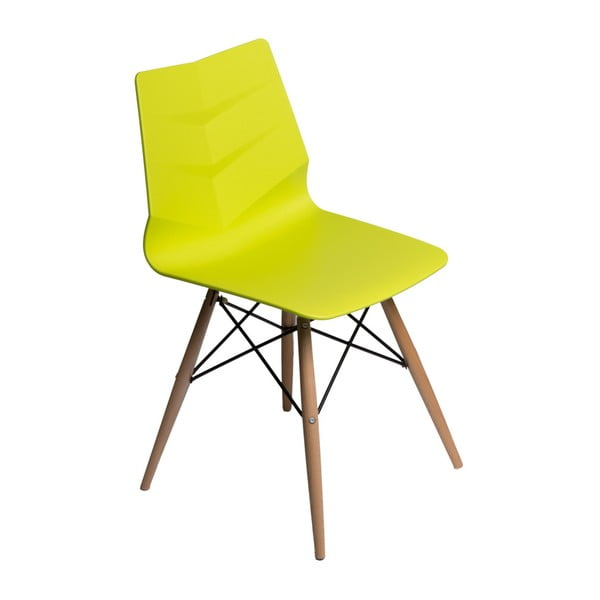 Sada 2 stoličiek D2 Leaf DSW, limetkové