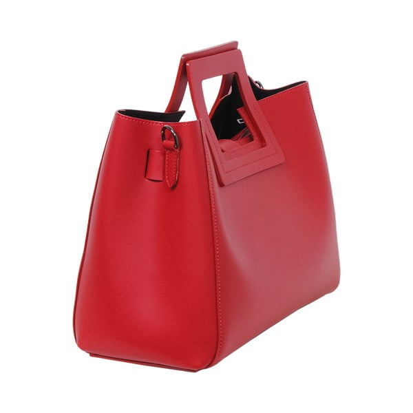 Červená kabelka z pravej kože Andrea Cardone Pietro