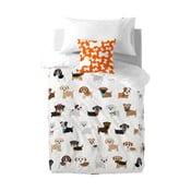 Detské bavlnené obliečky na paplón a vankúš Mr. Fox Dogs, 140 x 200 cm