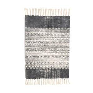 Čierno-biely koberec InArt Correr, 90×60cm