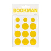 Sada 12 žltých samolepiacich odraziek Bookman