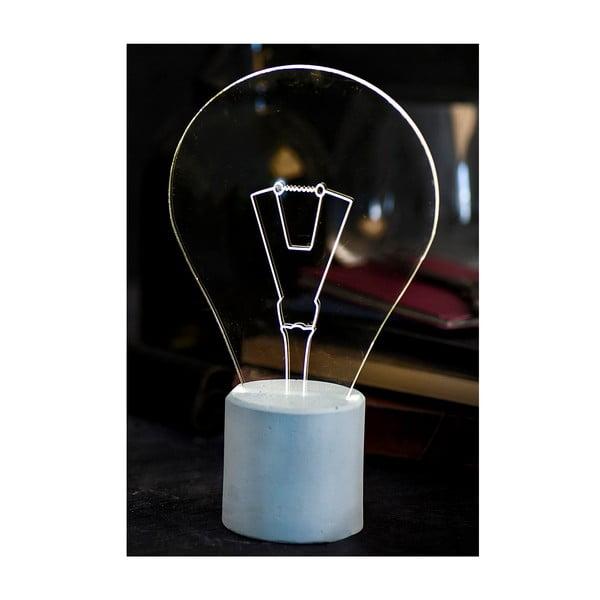 Náladové svetlo Bulb, modrý podstavec