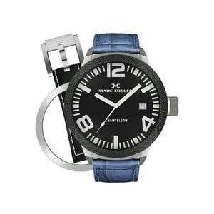 Pánske hodinky Marc Coblen s remienkom a ozdobou ciferníku naviac P18