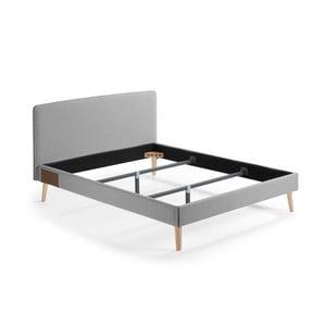 Sivá dvojlôžková posteľ La Forma Lydia, 200×160cm
