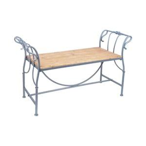 Kovová záhradná lavica s dreveným sedadlom Ewax Wings