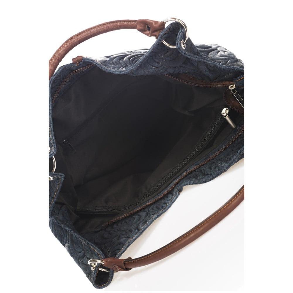 Modrá kožená kabelka Giorgio Costa Terst ... dc9f16ae7a3