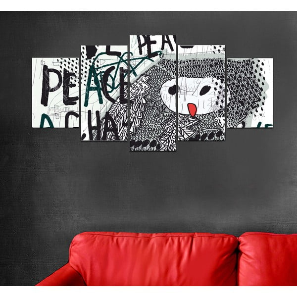 Viacdielny obraz Black&White no. 81, 100x50 cm