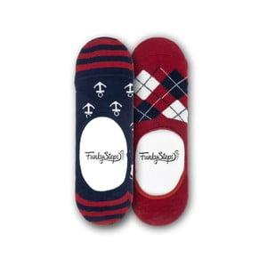 Sada 2 párov nízkych ponožiek Funky Steps Time, veľkosť 39 - 45