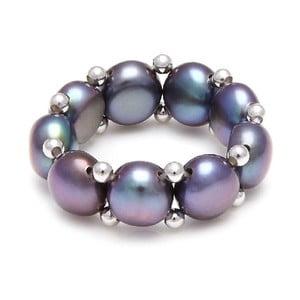 Prsteň z riečnych perál GemSeller Carnica, fialové perly