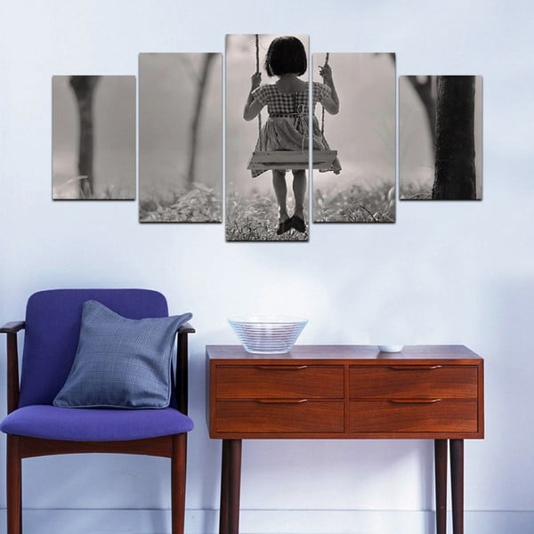 Viacdielny obraz Black&White no. 16, 100x50 cm