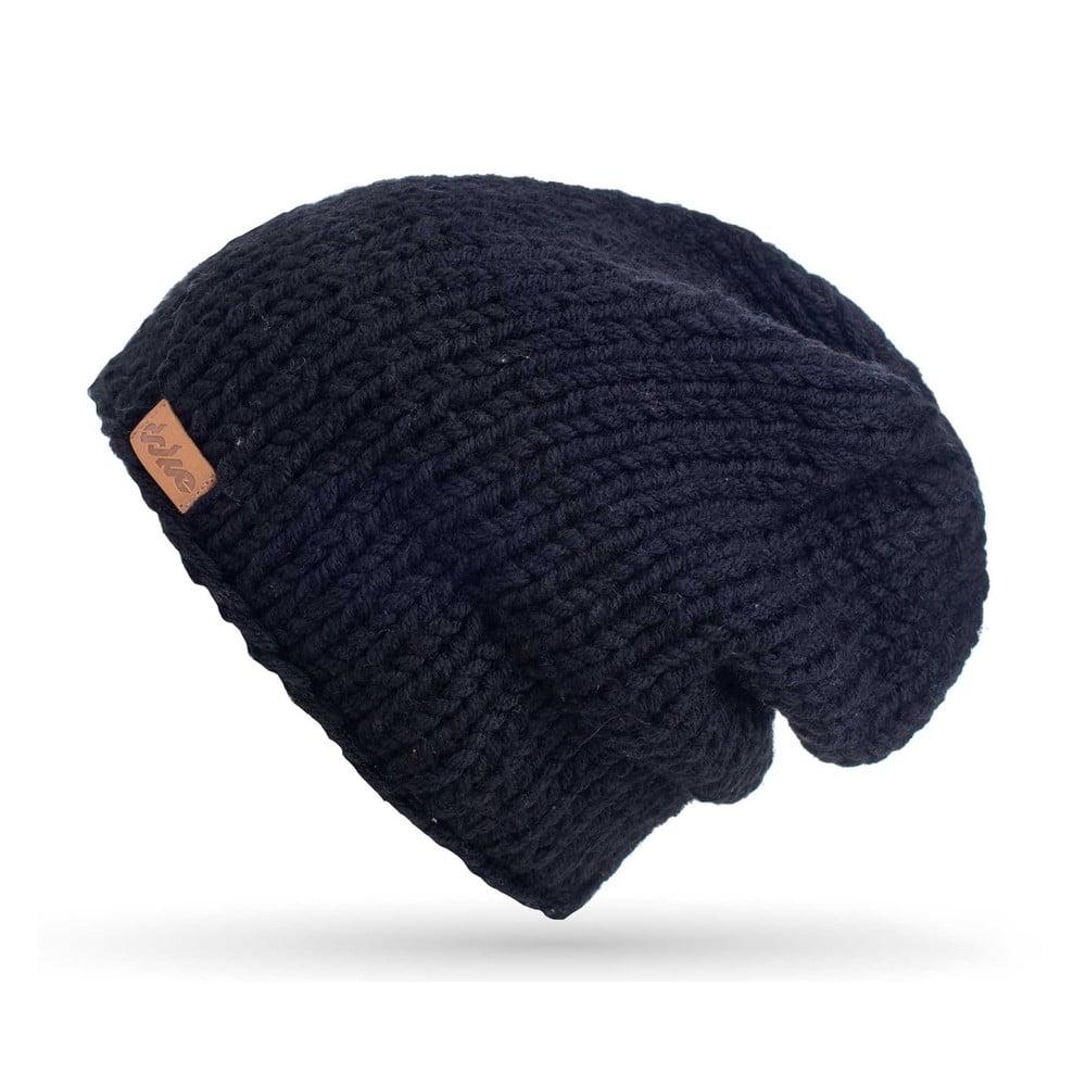 4590b3f14a49 Čierna ručne pletená čiapka DOKE Mina
