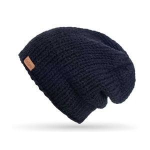 Čierna ručne pletená čiapka DOKE Mina