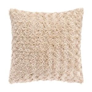 Pieskovohnedý vankúš Tiseco Home Studio Curl, 45 × 45 cm