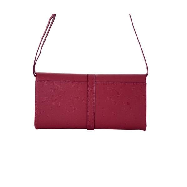 Ružová kabelka z pravej kože Andrea Cardone Calandra