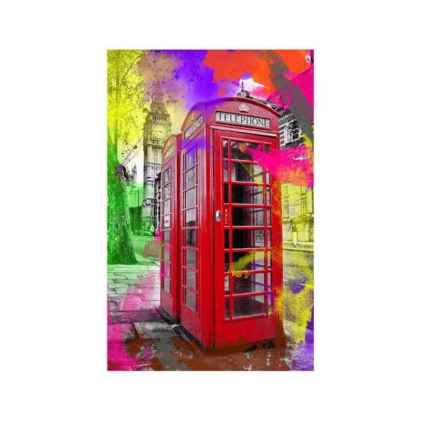 Obraz V telefónnej búdke, 45 x 70 cm