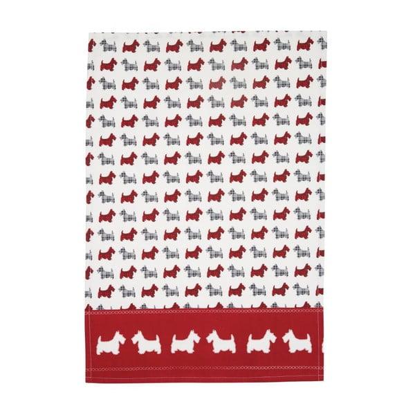 Sada 2 bavlnených utierok Traditional Scottie Dog