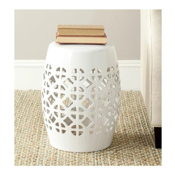 Biely keramický stolík Safavieh Ravello