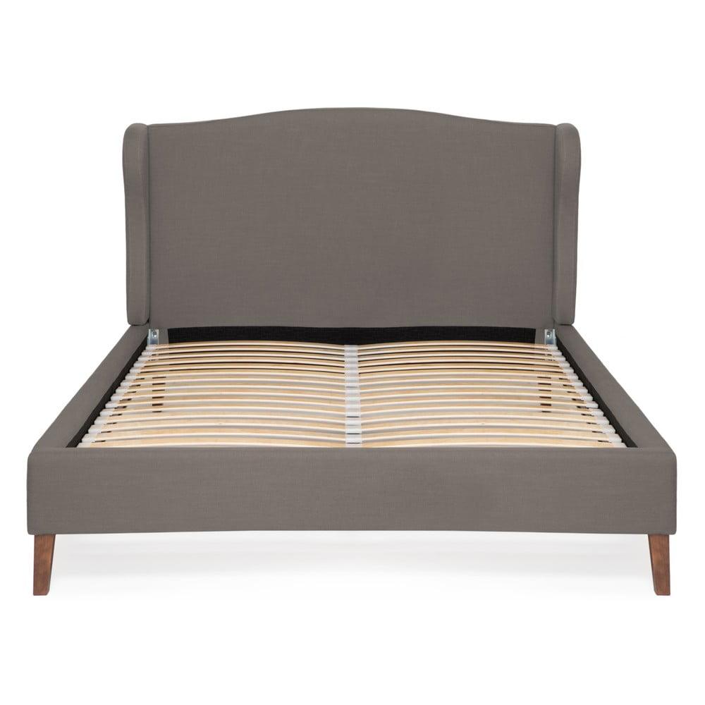 Sivá posteľ Vivonita Windsor Linen, 200 × 160 cm