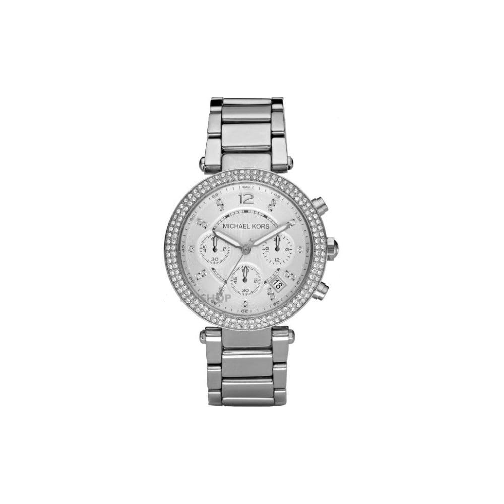 Dámske hodinky v striebornej farbe Michael Kors Parker