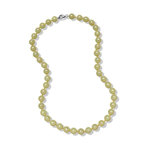 Limetkový perlový náhrdelník Mara de Vida Only Me, dĺžka 45cm