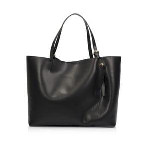 Čierna kožená kabelka Lisa Minardi Eunice