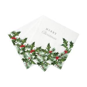 Vianočný papierový obrúsok Talking Tables, 33 x 33 cm