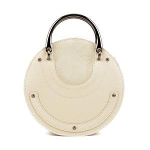 Béžové kožené listové kabelky Isabella Rhea Tarra