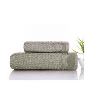 Sada uteráka a osušky Acustic Water Green, 50x90 cm a 70x140 cm