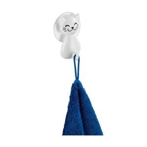 Biely nástenný háčik Wenko Cat