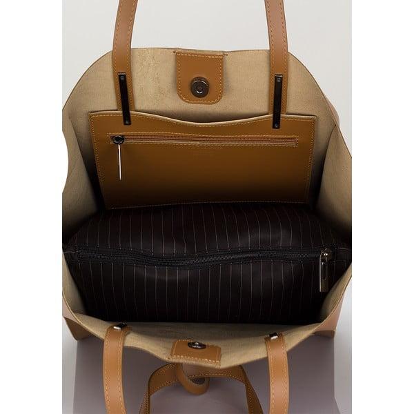 Kožená kabelka Giorgio Costa 2384 Cognac