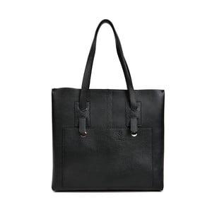Čierna kožená kabelka Isabella Rhea Daniele