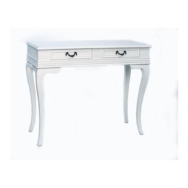 Konzolový stolík Rustik White, 100x42x82 cm