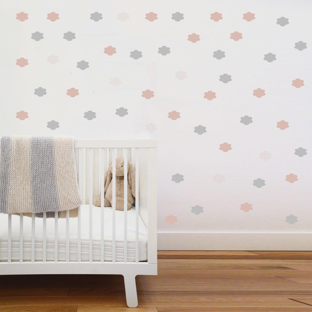 Ružové nástenné samolepky Art For Kids Clouds