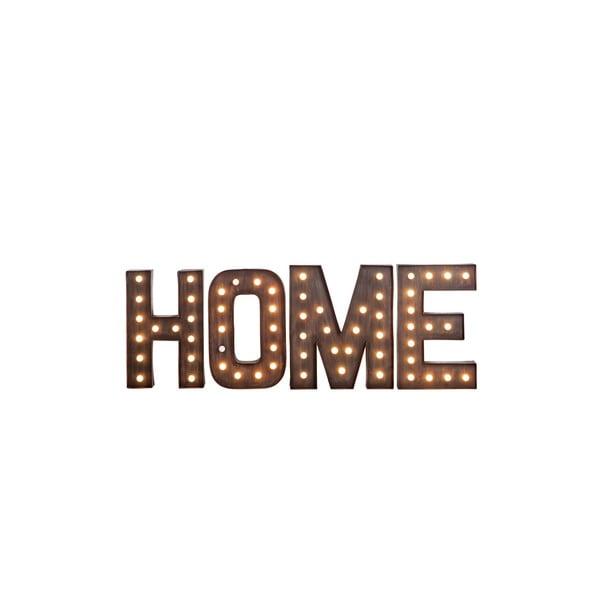 Svietiaci nápis Home