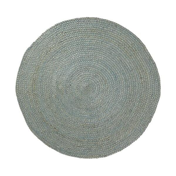 Jutový koberec Dip Ø100 cm, modrý
