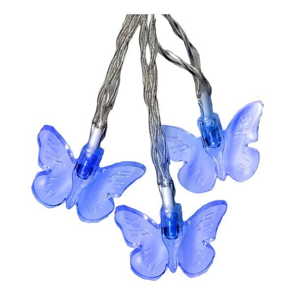 Svetelná reťaz Butterflies 280 cm, modrá